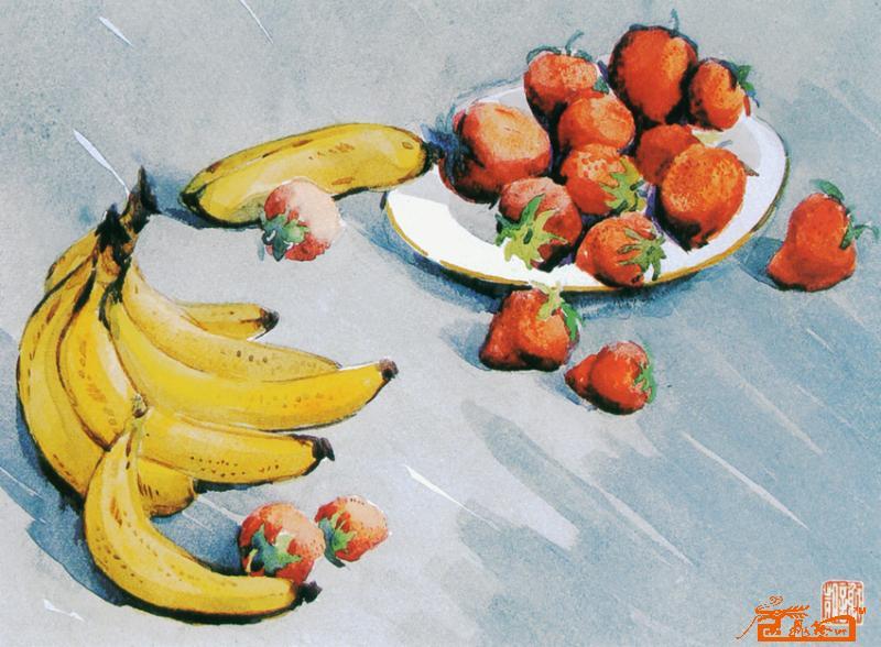 国画香蕉的画法步骤