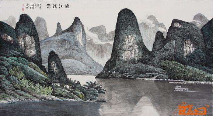 名家 黄德怀 国画 - 漓江山水